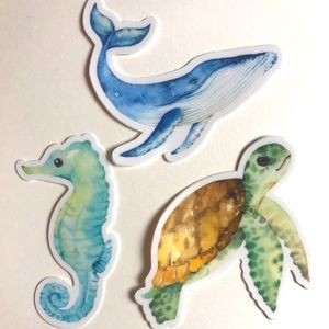 On The Fifth Day Vinyl Sea Creature Decal Stickers